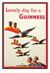 014 Vintage Advertising Poster Art Guinness