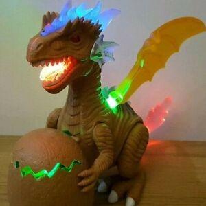 Electric Walking Dinosaur Toy Dragon Walking Tyrannosaurus Baby Egg Hatching LED