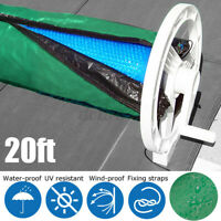 20ft Solar Blanket Winter Cover For Swimming Pool Collapsible Roller Reel Handl