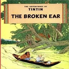 TINTIN - THE BROKEN EAR Soft Cover Book By Herge 1979 Magnet Edition