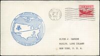 USA FIRST NON-STOP FLIGHT Cover Nov. 29,1953 NEW YORK - LOS ANGELES