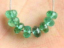 3.5mm. Natural Zambian Emerald Faceted Rondelle Gemstone Beads