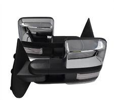 For 03-06 Silverado Sierra Chrome Tow Mirror Power+Heated+Dynamic LED Signal