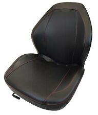 High Back Lawn Mower Seat w/ Slides Black Gravely, Husqvarna, Hustler