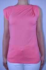 New L.K. Bennett Pink Blouse Top Holiday Stretch Summer Draped Size XS 8 AI