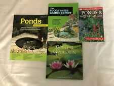 4 Water Gardening Books Ponds Specialist Guide Rock & Water Expert Water Feature