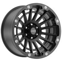 "4-Vision 417 Creep 17x9 6x5.5"" -12mm Satin Black Wheels Rims 17"" Inch"