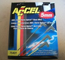 New ACCEL 7540Y 5mm Silicone Spiral Core Spark Plug Wires - Yellow