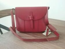 NWT Lucky Brand Dylan Genuine Leather Messenger Crossbody Ruby Red  MSRP  $218