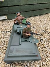 2 X VINTAGE ACTION MAN BEARDED TANK COMMANDER AND SOLDIER WITH TANK