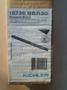 Kichler 15736BBR30 Landscape 12V LED  Light Bronzed Brass Outdoor Hardscape NEW