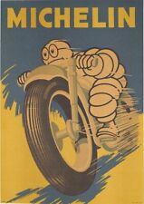 MICHELIN MOTORCYCLE POSTER BIBENDUM RIDING 1959 ORIGINAL ITALIAN POSTER RARE