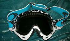 Oakley Snow Ski Snowboard Goggles Multi Color Blue White w/ Black Lenses