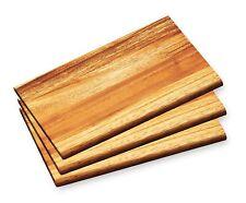 3x FRÜHSTÜCKSBRETTCHEN Akazienholz 23x15x1cm Schneidbrett Frühstücksbrett Holz 3