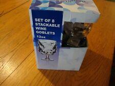 SET OF 8 ACRYLIC WINE GOBLETS