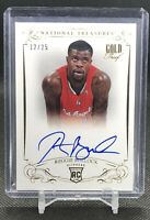 Reggie Bullock 2013-14 National Treasures ON-CARD Auto GOLD PROOF Rookie /25