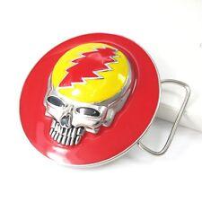 Daft Punk Rockers Rock Star Chrome Skull Para Mujer Hombre Hebilla de Cinturón Caja de Regalo Gratis
