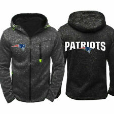 New England Patriots Unisex Hoodie 3D Casual Hooded Tops Full-Zip Coat Jacket