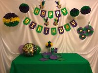 MARDI GRAS EVENT - 87 Piece Party Kit (Purple/Green/Yellow - Party Decorations)