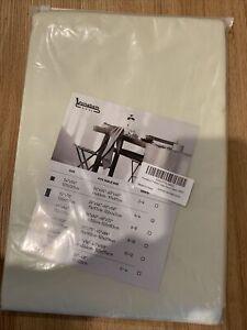 "100% Waterproof Rectangle PVC Tablecloth Vinyl Beige Oil & Waterproof 52"" X 70"""