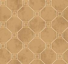 Wallpaper Designer Metallic Gold Faux with Gold Geometric Trellis Lattice