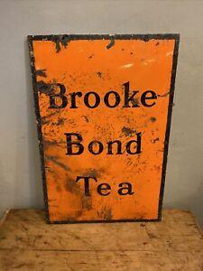 Original Vintage Brooke Bond Tea Enamel Advertising Sign