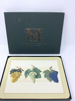 Metropolitan Museum of Art Grapes Placemats & Coasters by Jason 2 Sets of 6 NEW