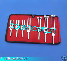 7 Pcs Tuning Forks Diagnostic Surgical Set
