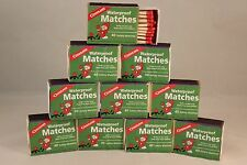 WATERPROOF MATCHES-10 BOXES OF 40+ OVER 400 MATCHES-CANNOT LIGHT ACCIDENTALLY!