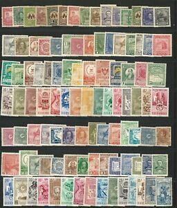 Venezuela: Between 1930-1958, lot of 100 diff. Stamps not gum , unused VZ0375