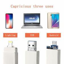 3 in1 USB Stick (USB 3.0/Micro USB/Lightning) 32GB kompatibel mit iPhone Android