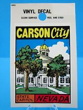"Vintage... ""CARSON CITY - NEVADA STATE CAPITOL""   STICKER / DECAL...(VERY NICE)"