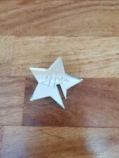 Small engraved acrylic star personalised Helen glass decoration wedding