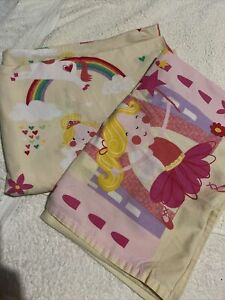 Princess Unicorn Fairy Single Duvet Cover (reversible) And Pillow Case