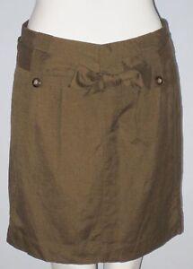 BANANA REPUBLIC Size 2 Brown Fully Lined Mini Skirt