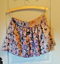 Ted Baker short skirt size 2 ( uk10) beautiful satin butterfly fabric, party