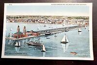 Vintage Postcard Outer Harbor Recreation Building Navy Pier Chicago Illinois