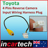 Toyota 4 Pins Male Connector Radio add Back Up Reverse Camera RCA Input Plug