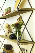 AVIGNON HOME Rustic Floating Wood Shelves 3-Tier Wall Mount Hanging Shelves Book