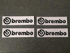 brembo Disk Break Stickers Decal Black Color 1 set of 4