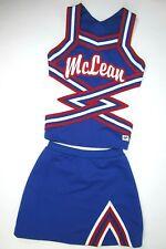 "New Girls McLean Cheerleader Uniform Outfit Costume 30"" Top Elastic Skirt Rwb"