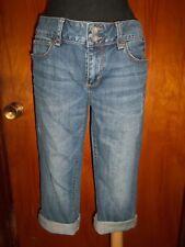 Victoria's Secret London Jean Hipster Capri Capris Denim Cropped Crop Jeans 8