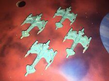 Star Trek Micro Machines Lot Future Klingon Battlecruiser X4 Space Ship Fleet