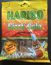5 x Haribo Fizzy Cola Gummy Candy Bags - USA 142g
