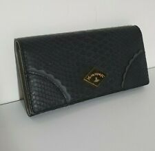 🦄Vivienne Westwood Anglomania Frilly Snake Black Grey Gray Leather Wallet Purse