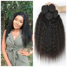 Kinky Straight Human Hair Bundles Weft For Women Remy Brazilian hair 4pcs/200G