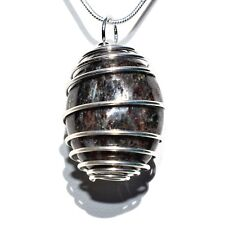 "CHARGED RARE Polished Astrophyllite Crystal Perfect Pendant™ + 20"" Silver Chain"