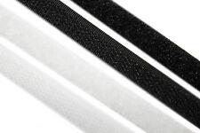 Klettband zum annähen, nähbar - 10mm, Meterware - schwarz, weiß