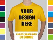100 Custom Silk Screen Printed T-Shirts ANY COLOR - $3.35 EACH BULK TEE