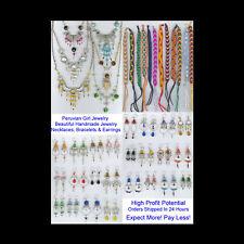 Peru Silver Jewelry Lot 34 Necklaces Earrings Bracelets